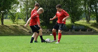 Beliebter Sport in Neusäß: Fußball. Foto: Kerstin Weidner