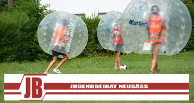 Bubble-Soccer-Turnier, das der Jugendbeirat organisiert hat. Foto: Kerstin Weidner