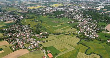 Luftbild von Neusäß. Foto: Marcus Merk