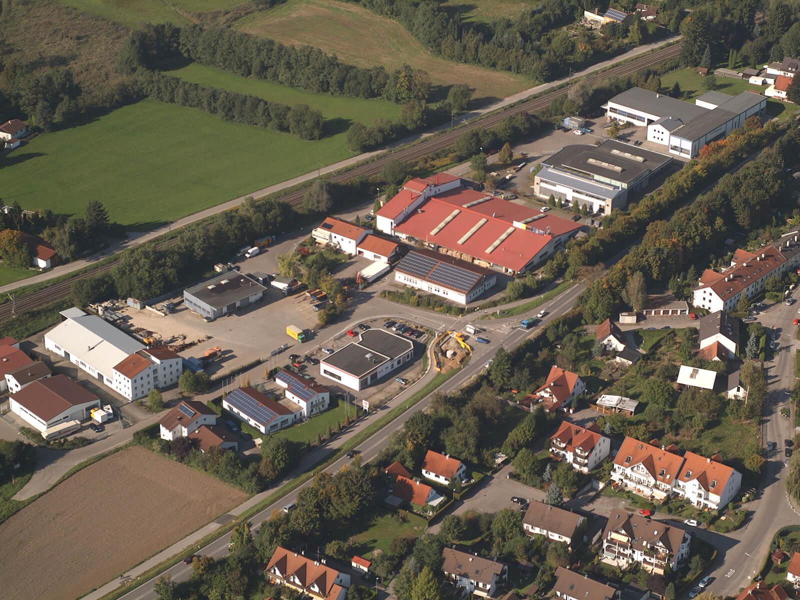 Luftbild vom Gewerbegebiet Vogelsang.