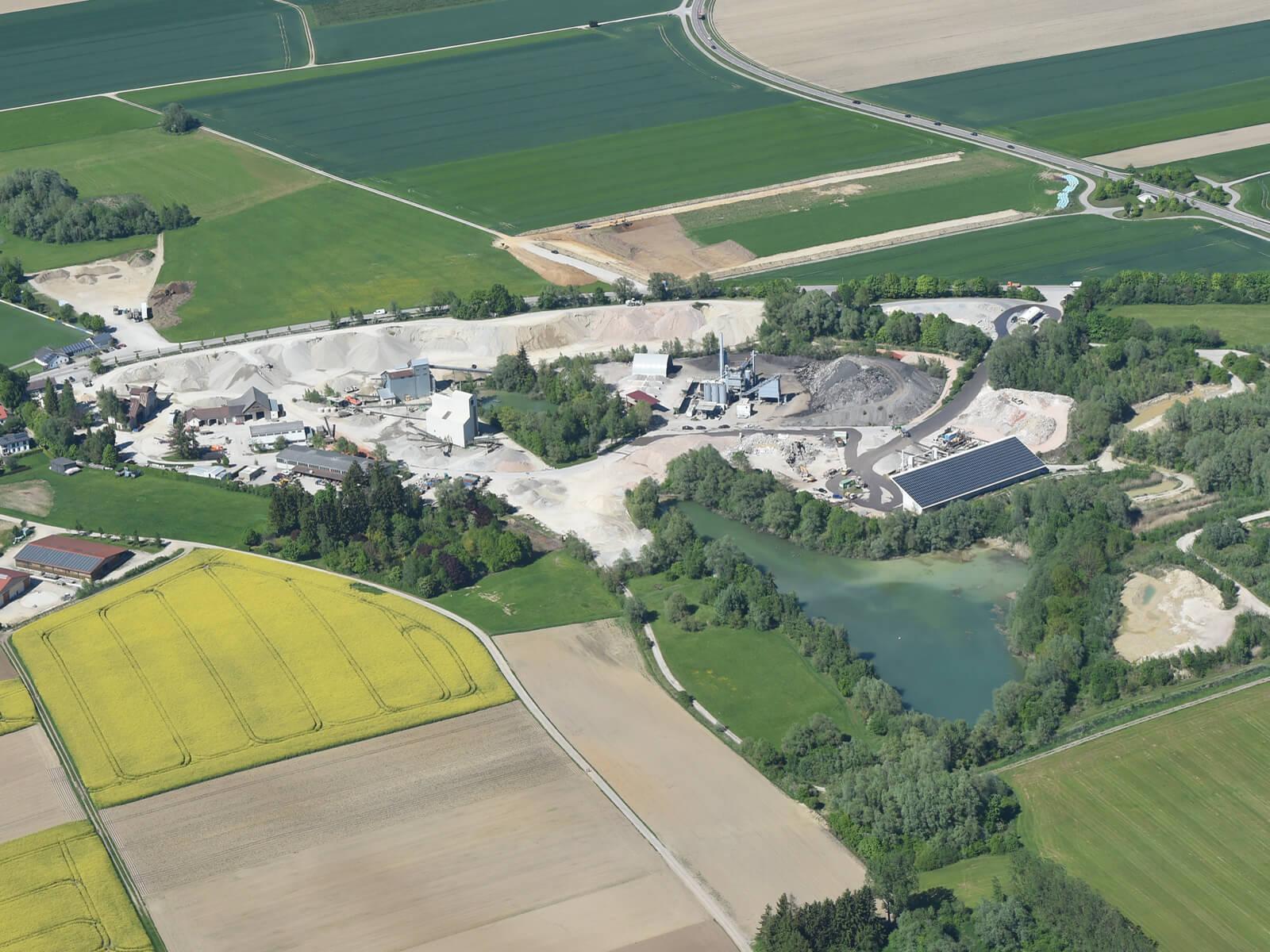Das Recyclingunternehmen Thaler von oben. Foto: Marcus Merk