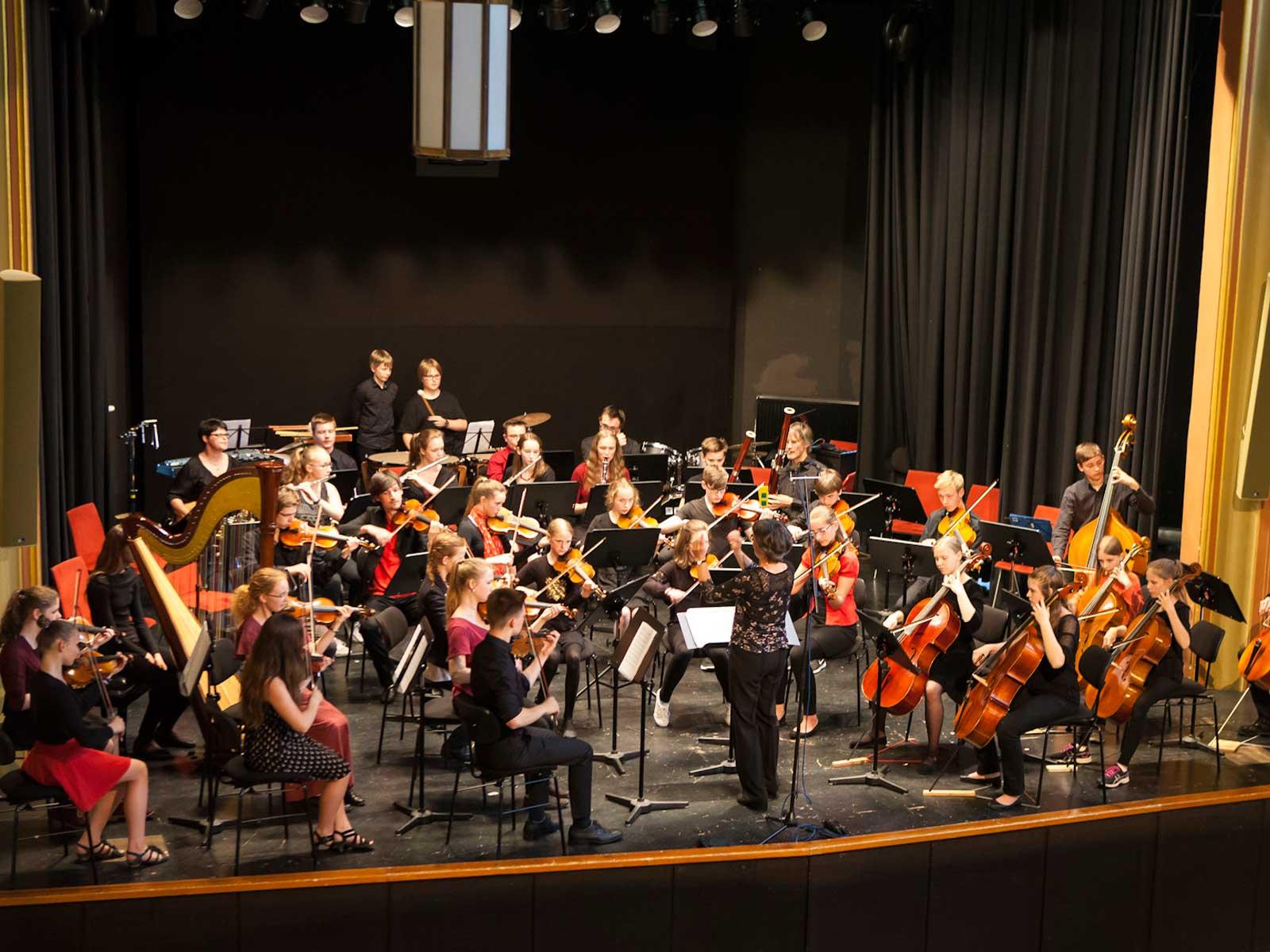 Junges Sinfonierorchester beim Konzert. Foto: Renate Pank