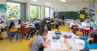 Unterricht in der Eichenwaldschule: Foto: Ulrike Klumpp