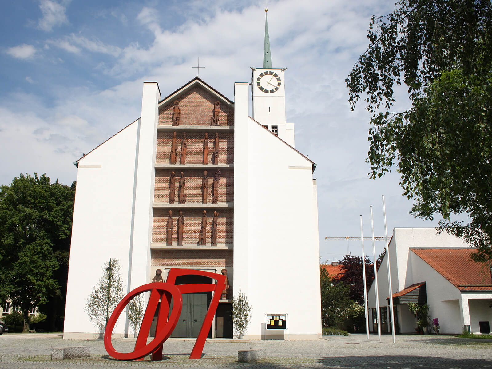 Kirche Sankt Ägidius in Neusäß. Foto: Kerstin Weidner