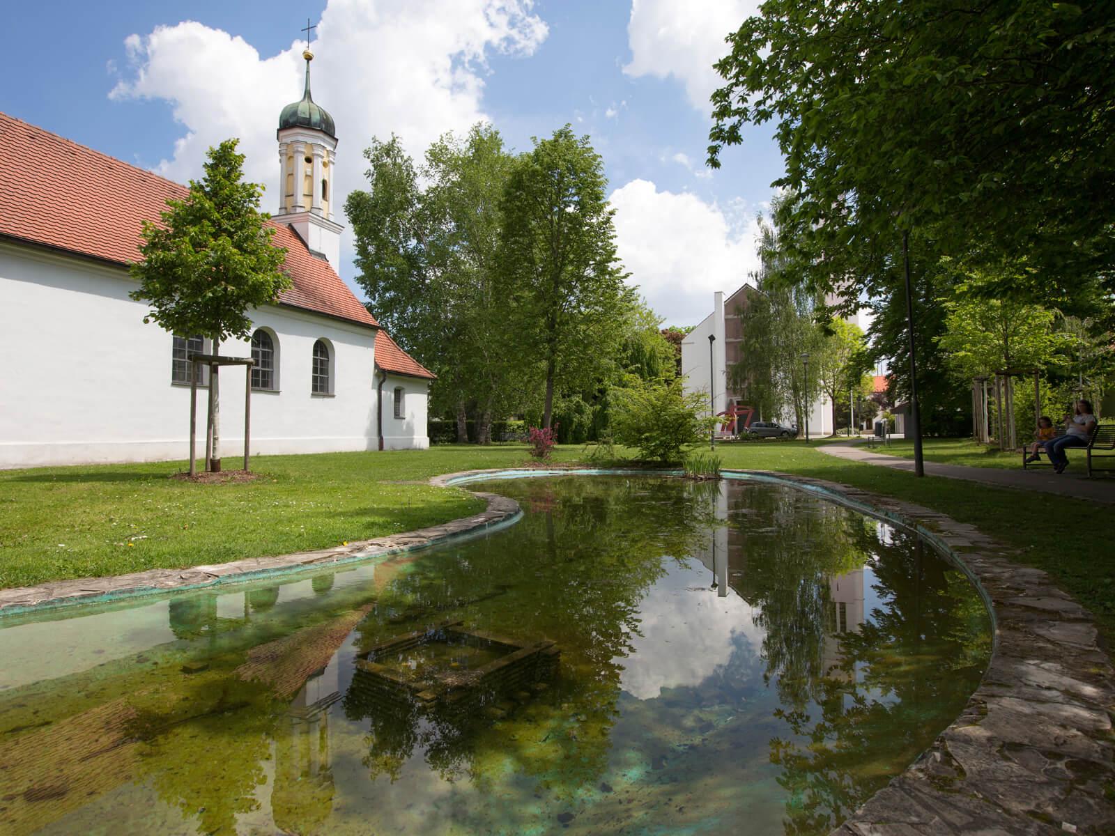 Ägidiuskapelle im Ägidiuspark. Foto: Ulrike Klumpp