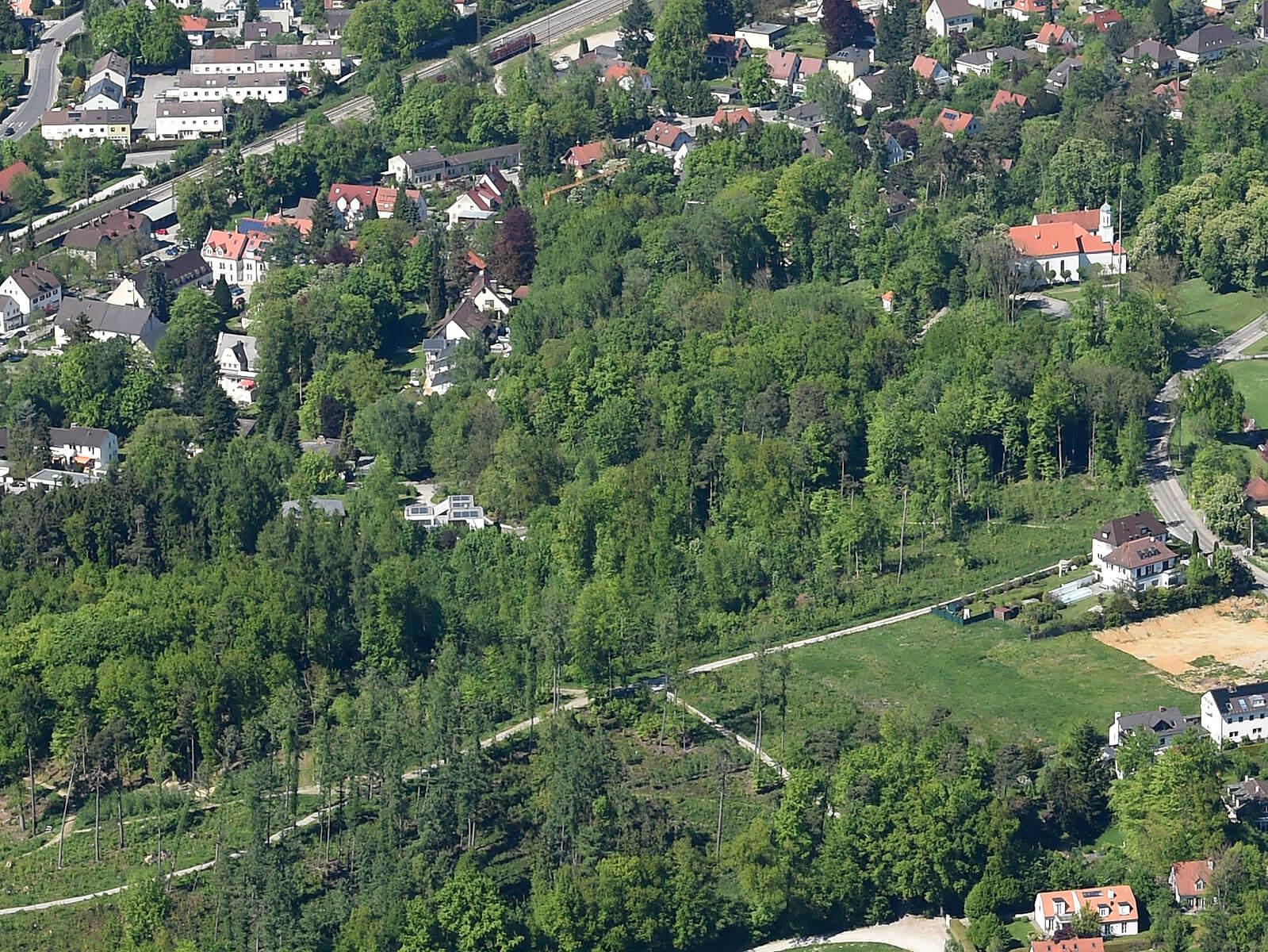 Luftbild vom Kobelwald. Foto: Marcus Merk
