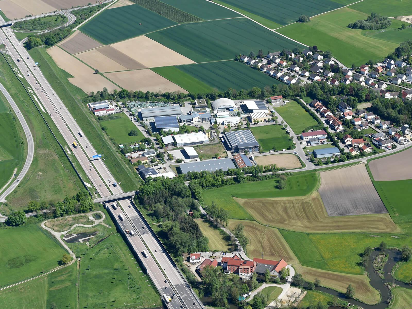 Gewerbegebiet Täfertingen. Foto: Marcus Merk