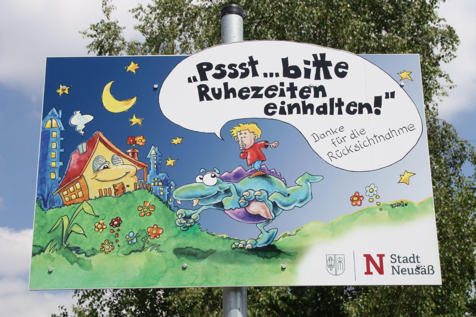 Spielplatz Flurstraße - Hinweis Ruhezeiten