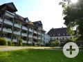 Park und Gebäude des Caritas-Seniorenzentrums Notburga. Foto: Kerstin Weidner