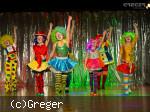 Kindergarde der Narrneusia als Clowns verkleidet und geschminkt. Foto: Greger