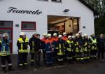 Die Freiwillige Feuerwehr Hammel bei der Besichtigung durch Kreisbrandinspektion.