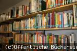 Regale gefüllt mit Büchern
