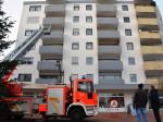 Anleiterversuch der Feuerwehr am Steppacher Dreieck.