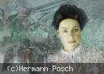 Portraitfoto von Anja Klawun als Marie Curie