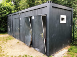 Sinnlose Zerstörung der Toilettenanlage am Abenteuerspielplatz.