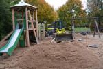 Neuer Außenspielbereich des runden Kindergartens Westheim.