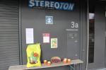 vor dem Stereoton kann man sich ein Feuerbohnen-Pflanz-Set abholen.