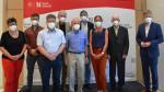 v.l.n.r.: 3. BGM Susanne Höhnle, Daniel Miller, Norbert Schölhorn, Wolfram Haines, Josef Merk, Gunter Becher, Kerstin Hirscher, Erich Goldau, 1. BGM Richard Greiner.