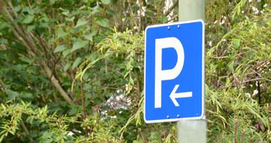 Parkplatzschild. Foto: Kerstin Weidner