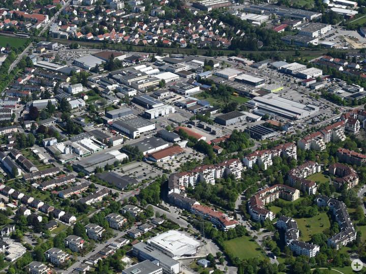 Gewerbegebiet Neusäß-Mitte. Foto: Marcus Merk