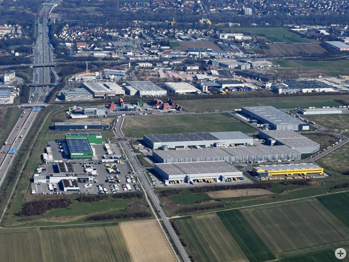 Luftbild Güterverkehrszentrum. Foto: Marcus Merk