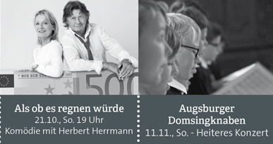 Plakate Veranstaltungshinweise. Foto: Stadt Neusäß