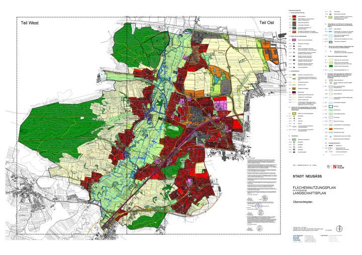 Flächennutzungsplan der Stadt Neusäß