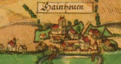 Karte der Markgrafschaft Burgau von 1590