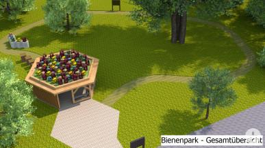 Modell Gesamtansicht Bienenpark