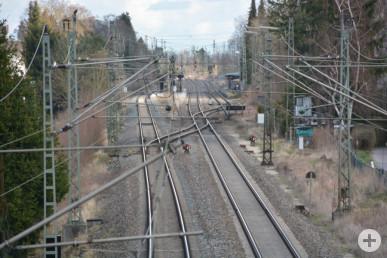 Bahngleise bei Westheim