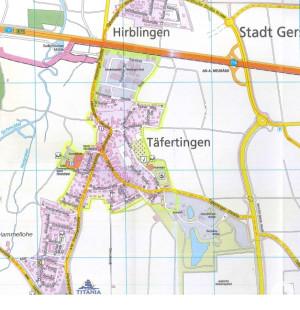 Wasserrohrnetzspülung im Stadtteil Täfertingen