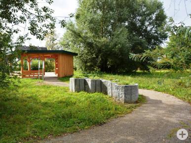 Pavillon im Bienenpark.