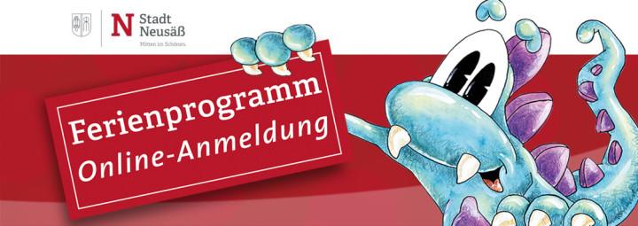 Banner Ferienprogramm Online-Anmeldung